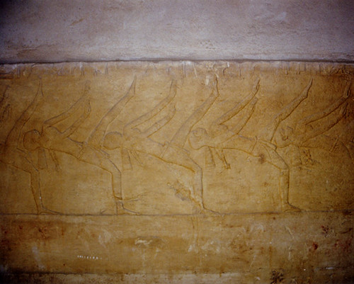 Dancers on the wall of an ancient Egyptian tomb. Image Credit - Celeste Goulding.
