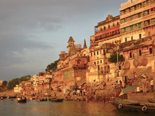 Sunrise of the city of Varanasi, India. Image Credit - Richard IJzermans.