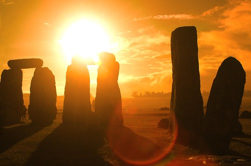 Many believe that Stonehenge relates to the Sun, but some evidence suggests that it is aligned with the moon's movements in the night sky. Image credit - Grufnik.