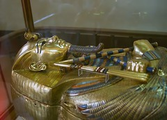 Tut Ankh Amon Coffin, Egyptian Museum, Cairo, Egypt