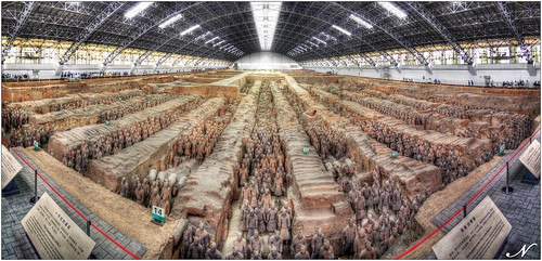 Terracotta Army Panorama by Noel (on Flickr)