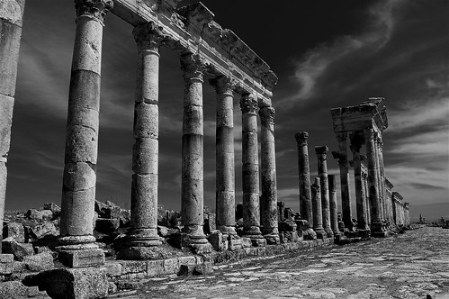 The Cardo Maximus of Apamea, Syria. Image Credit - Robinho.
