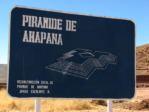 Piramide de Akapana sign