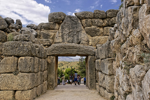Inside Lions Gate at Mycenae