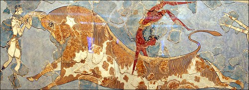 Minoans painted stunning frescoes on the walls of buildings. Image credit - Howard Stanbury