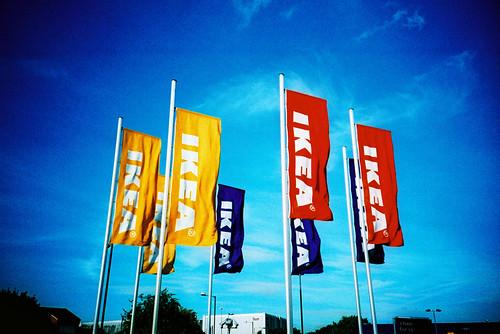 Ikea Flags / Kodak E100G xpro