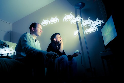 Playing games all night - but can it be educational too? Image Credit - Patrick Brosset.