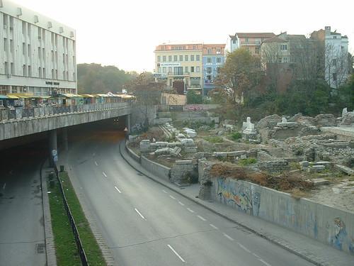 Roman Forum and modern underpass