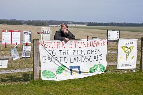 Druid's protest at Stonehenge