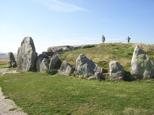 West Kennet Long Barrow is thought to have been a site of excarnation. Image credit - Purple Wyrm.