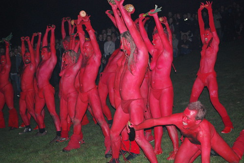 Beltane Fire Festival 2009 - Calton Hill,<br /> Edinburgh - Half Naked Red Men