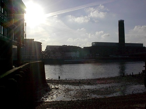 The Thames at afternoon low tide