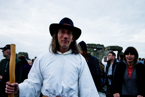 Stonehenge Summer Solstice 2009 - A Druid and the Stones