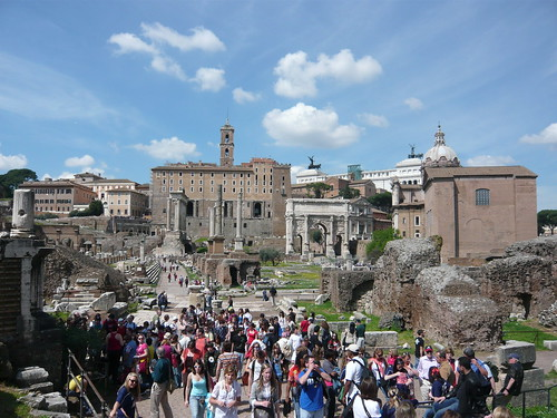 Tourists in Roman Forum. Image Credit - Mitko_denev.