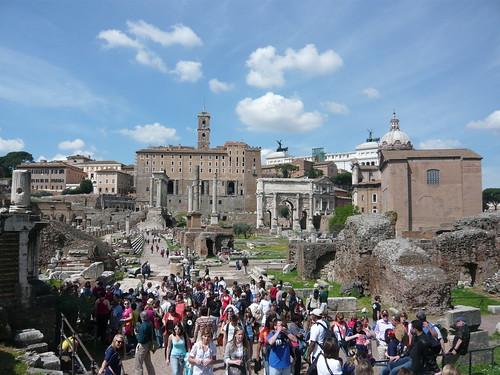 Tourists in Roman Forum. Image Credit - Mitko_denev.