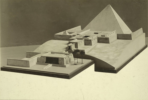 Metropolitan Museum Collection. Model of King Sahure's Pyramid at Abusir