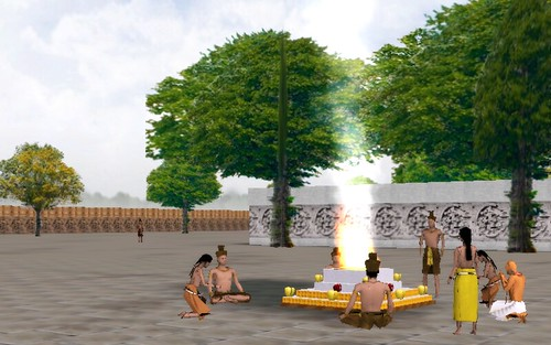 Virtual Sambor Prei Kuk - Praying