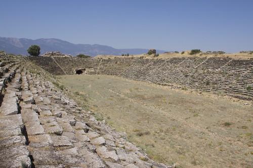 The stadium, Aphrodisias. Image Credit - Hector16