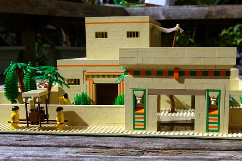 Ancient Egyptian villa constructed out of Lego Blocks