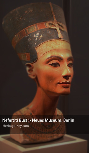 The Bust of Nefertiti at the Neues Museum, Berlin, is on Dr Hawass' list of artefacts he wants returned to Egypt. Image Credit - Jon Himoff.