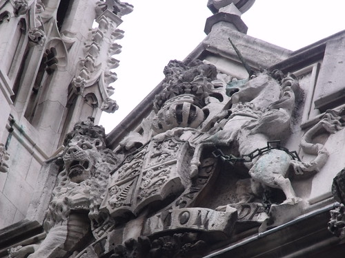 The Maughan Library - King's College London from Fetter Lane, City of London - royal coat of arms