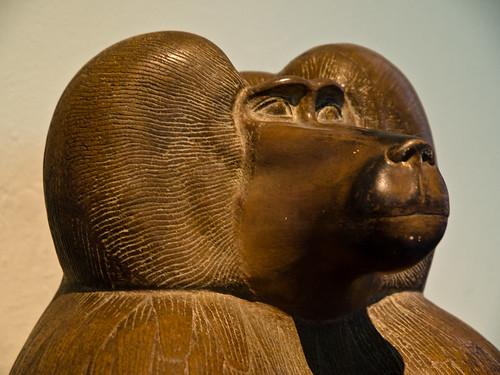 Quartzite figure of baboon