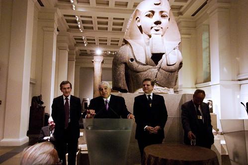 Dr. Zahi Hawass at the British Museum - Reception