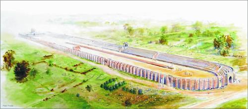 Artist's impression of Colchester's Roman Circus