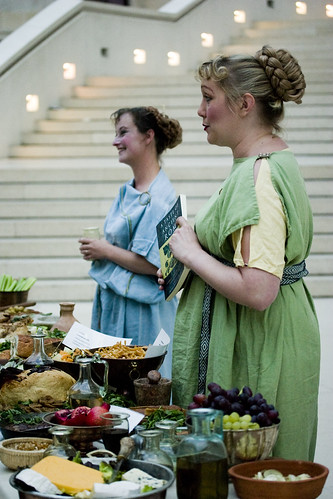 Roman Food at the British Museum - Two 'Vicas' Ladies