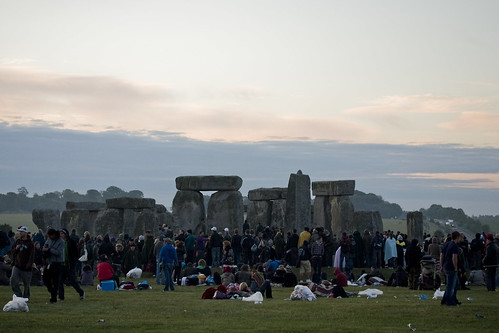 Stonehenge Summer Solstice 2010 - The Sun Rises Behind the Stone<br /> Circle