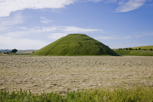 Silbury Hill, Wiltshire (on a sunny after-summer-solstice day)