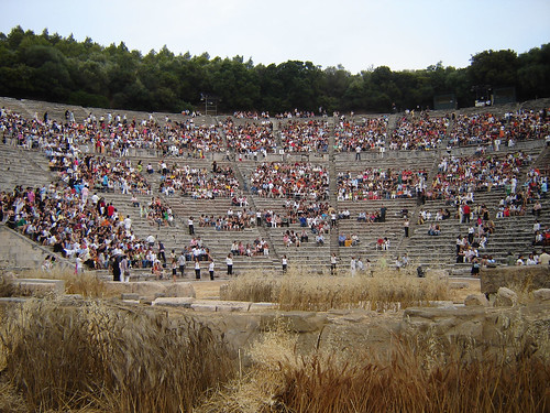 Panoramic view of ancient theatre of Epidaurus. Image Credit - Valellis George.