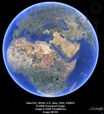 A look at the Greatest Cities of the Ancient World in Google Earth.