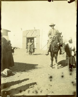 Hilda Petrie on horseback, taken in 1898. Image courtesy of University College London, Petrie Museum of Egyptian Archaeology.