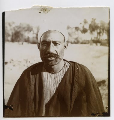 Muhammad Darwish in 1899 - one of Petrie's workmen. Image courtesy of University College London, Petrie Museum of Egyptian Archaeology.