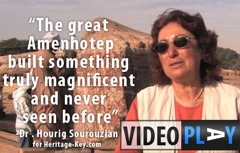 Dr Hourig Sourouzian explains the excavations and work being carried out at the Mortuary Temple of Amenhotep III. Click the image to skip to the video.