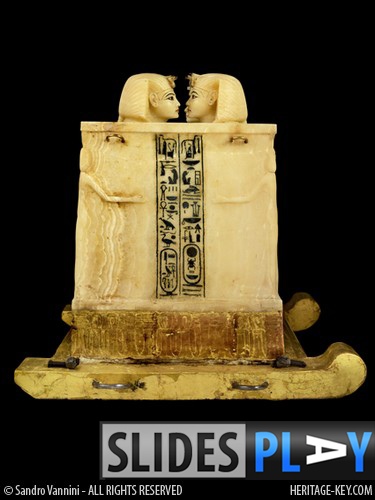 The Canopic Chest of King Tutankhamun, on display at the Egyptian Museum, Cairo. Image Credit - Sandro Vannini.