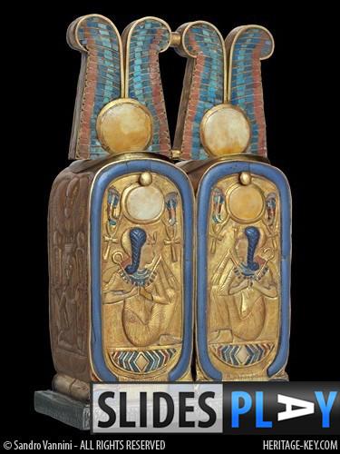 The Cartouche Cosmetic Box, found in the Tomb of King Tutankhamun (KV62). Image Copyright - Sandro Vannini.