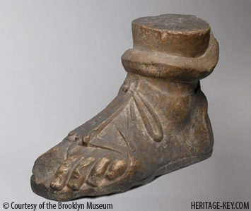 Colossal Left Foot - Provenance unknown, Roman Period, 1st - 2nd century C.E. Image courtesy of the Brooklyn Museum.