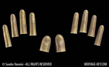 Finger Stalls from King Tutankhamun's Tomb. Image Credit - Sandro Vannini.