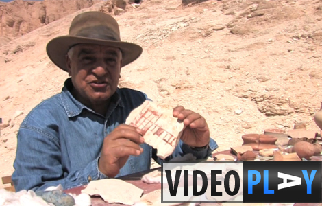 Dr Zahi Hawass shows new finds from the Valley of the Kings