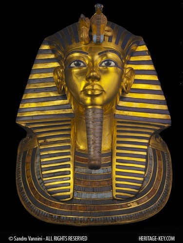The Golden Mask of King Tutankhamun, photographed by Sandro Vannini. Click through to see a 360 view of the Death Mask.