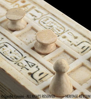 King Tutankhamun's Senet Board. Image Copyright - Sandro Vannini.