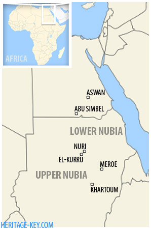 Map of the Nubia region.
