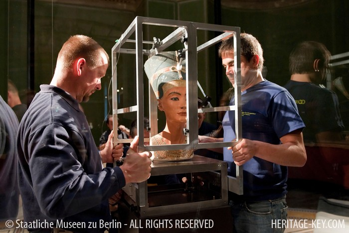 Queen Nefertiti - Nofretete in German - was last moved in 2009, to take her place at the renovated Neues Museum, Berlin.