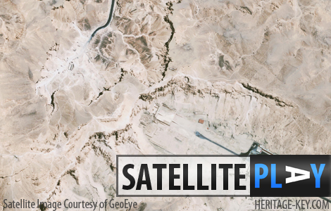 The stunning culture-rich site of Luxor and Ancient Thebes seen from above thanks to satellite imagery from GeoEye. Click the image to zoom in even closer.