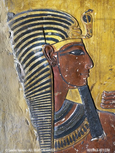 Seti I from the KV17 tomb, captured in this stunning photograph by Sandro Vannini