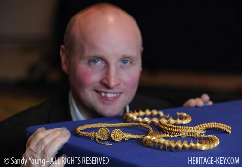 David Booth with the Stirling treasure. Image Credit - Sandy Young.