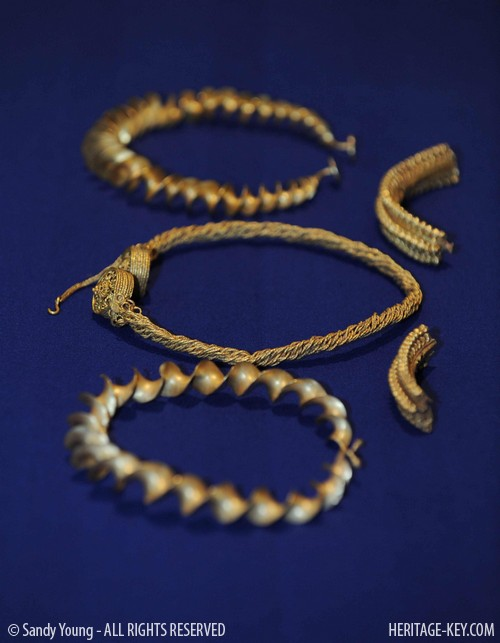 The treasure of the Stirling Iron Age Gold. Image Credit - Sandy Young.