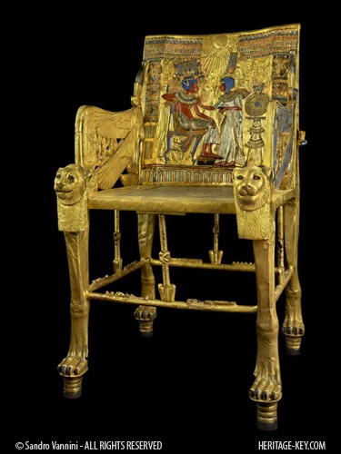 King Tutankhamun's Golden Throne is one of the most stunning pieces of royal furniture. Image Copyright - Sandro Vannini.